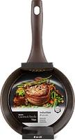 Poêle en titane plate Cucina & Tavola, Ø24cm, ou casserole à manche Cucina & Tavola, Ø20cm, au design Marble