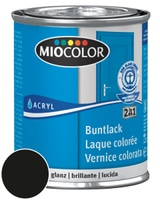 Miocolor Acryl Vernice colorata lucida Nero 125 ml