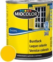 Miocolor Acryl Vernice colorata satinata Giallo melone 750 ml