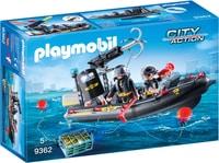 Playmobil Bateau penumatique et policiers d'élite