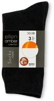 Calze da donna Ellen Amber in conf. da 3, Bio Cotton