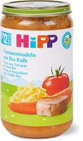 Bio HiPP Pâtes aux tomates viande veau