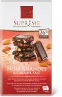Suprême noir Amande&caramel salé