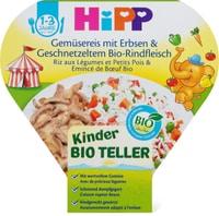 HiPP Kinderteller Gemüsereis Erbsen Rindfleisch