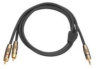 Daymond D.30.013 3.5mm Stereo Klinke - Stereo Cinch (1.5m) Audio Kabel