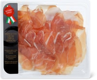Prosciutto crudo dell'Emilia Romagna e salame Felino, affettato