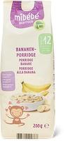 Porridge à la banane et tranches de pommes croquantes, Mibébé