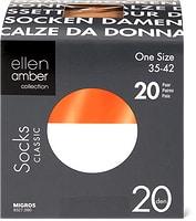 Socquettes ou mi-bas 20 deniers Ellen Amber pour femme, en lot de20