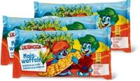 Lilibiggs-Mais- und -Apfel-Reiswaffeln sowie Joghurt- und Schoko-Reiswaffeln im 3er-Pack