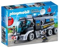Camion des policiers d'élite avec sirène et gyrophare