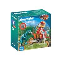 Playmobil Pilote de moto et raptor 9431