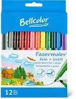 Bellcolor Stylos-feutre fins + larges
