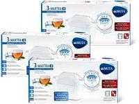 Cartucce per filtro Cucina & Tavola e cartucce per filtro Brita in conf. da 3 nonché filtro per l'acqua Brita Marella con 3 cartucce