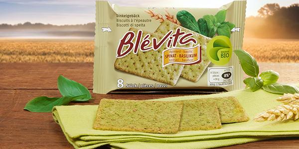 Gesucht: Tester für die neue Blévita Sorte «Spinat-Basilikum»