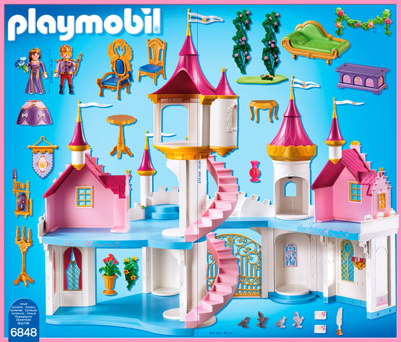 Playmobil princess prinzessinnenschloss 6848 migros for Chateau playmobil 4250
