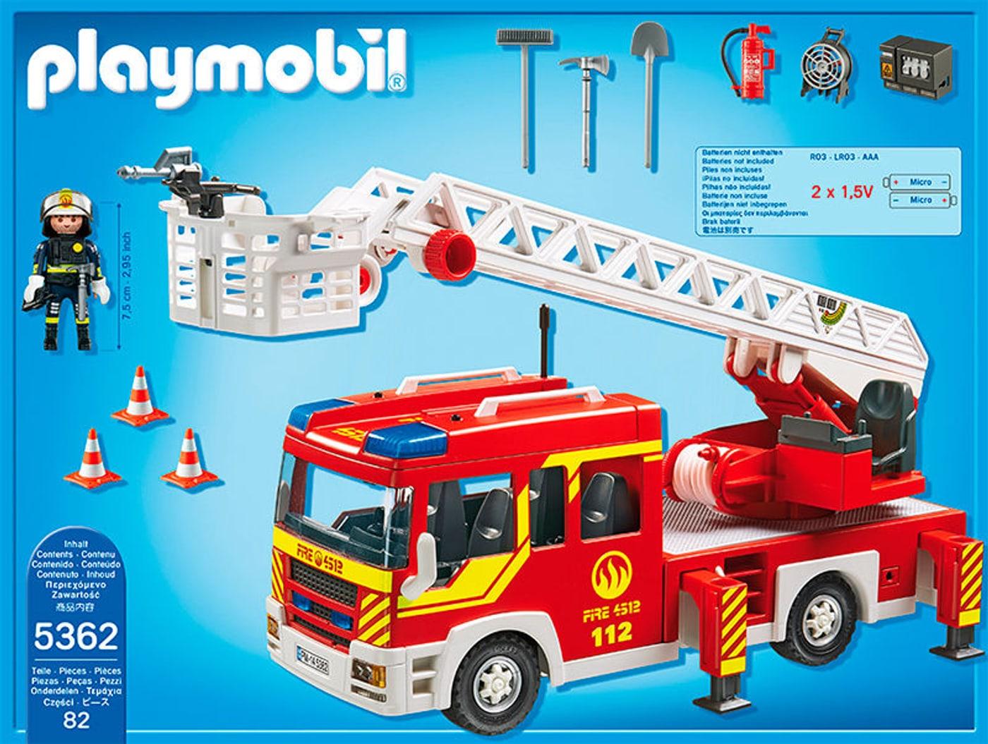 Playmobil 5362  Camion de pompier avec échelle pivotante et sirène
