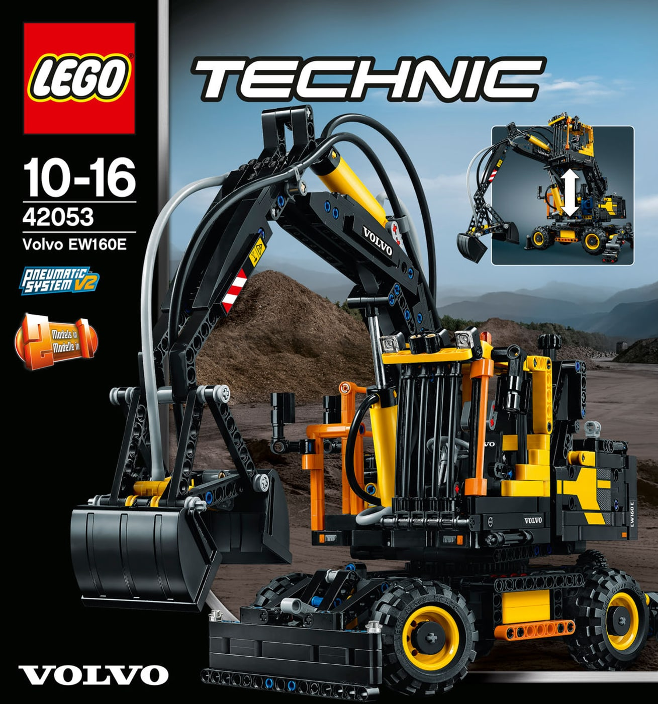 lego technic volvo ew160e 42053 migros. Black Bedroom Furniture Sets. Home Design Ideas