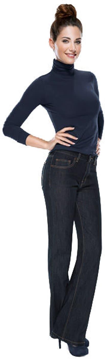 damen jeans angela bootcut dunkelblau migros. Black Bedroom Furniture Sets. Home Design Ideas