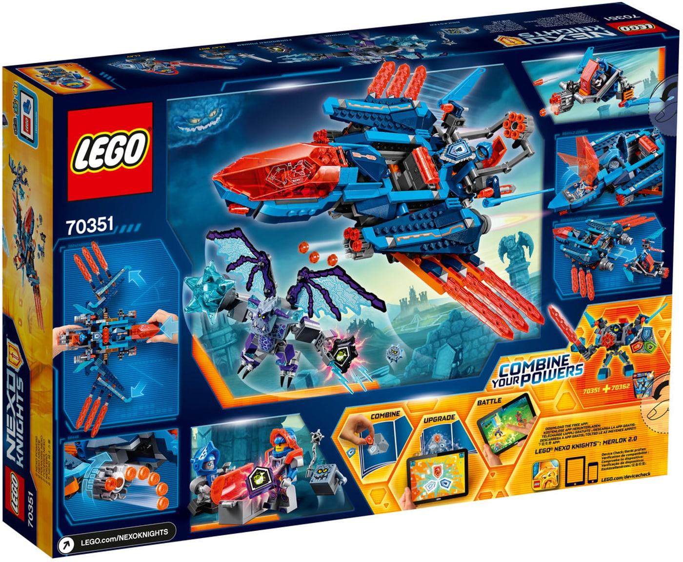 Lego Nexo Knights Le Faucon De Combat De Clay 70351 Migros