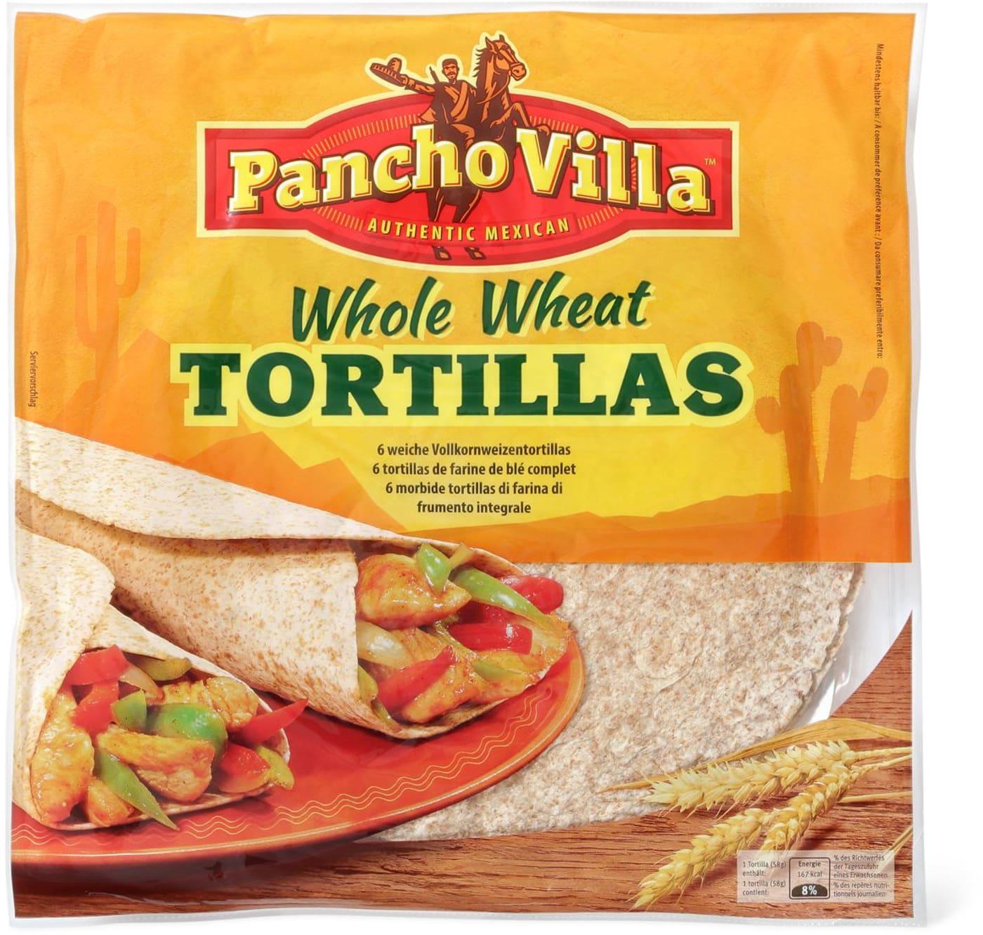 Energiewert Haus: Pancho Villa Whole Wheat Tortilla 6 Stk