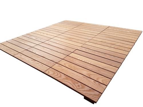 Balkonbodenplatten Holz