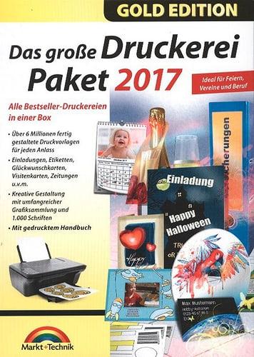 Pc Gold Edition Das Grosse Druckerei Paket 2017