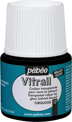 Pébéo Vitrail glossy turquoise 17