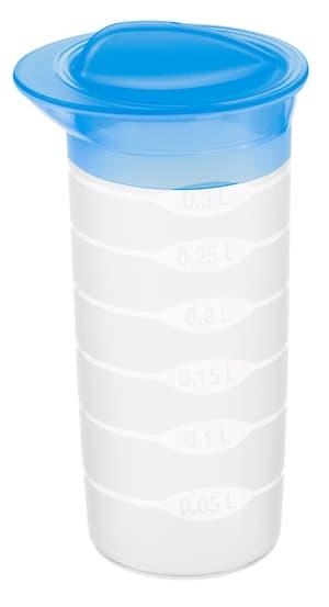 BASIC Shaker 0.3l mit Deckel und Mixrad, Kunststoff (PP) BPA-frei, transparent/blau