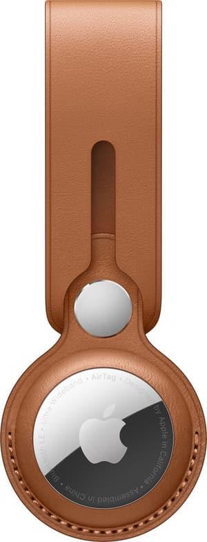 AirTag Leather Loop Saddle Brown