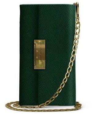 Book-Cover Crossbody Wallet Saffiano green