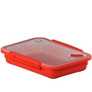 MEMORY Mikrowellendose 0.9l mit Deckel und Ventil, Kunststoff (PP) BPA-frei, rot