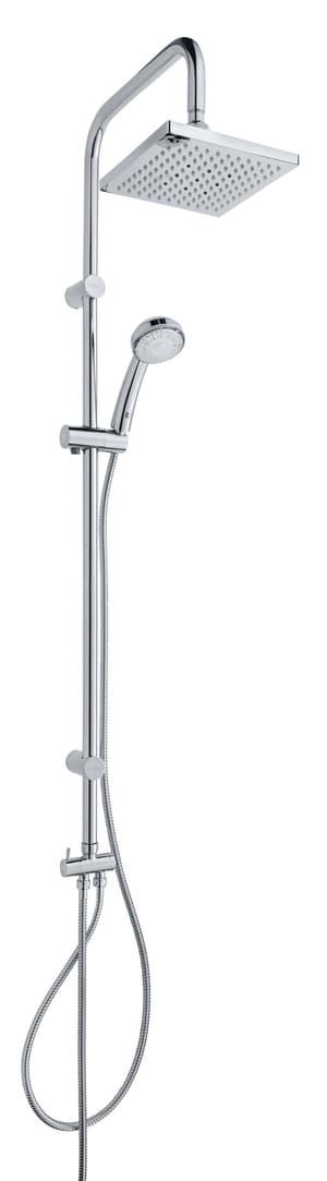 Système de douche Titan LED chromé
