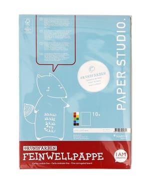 Feinwellpappe A4, 10 Blatt, Grundfarben