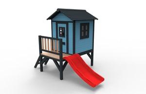 Spielhaus Aline Fun Plus blau