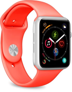 Icon Silicone Band - Apple Watch 42-44mm - coral