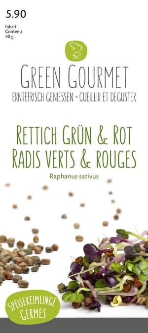 Keimlinge Rettich Grün & Rot, Mix 40g