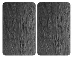 Glasabdeckplatten Universal Schiefer 2er