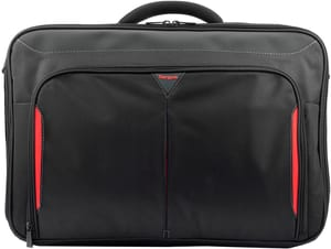 """Classic+ Clamshell Case 17-18"""" - Schwarz/Rot"""