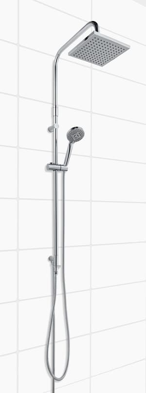 Sistema di doccia Kale Turn cromato