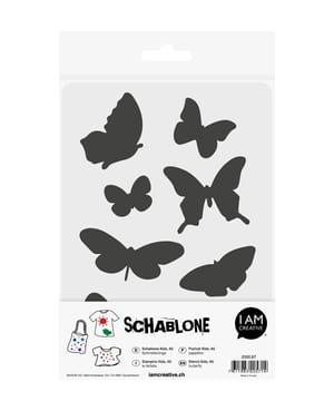Schablone Kids DIN A5, Schmetterlinge