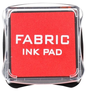 Fabric Ink Pad, rouge