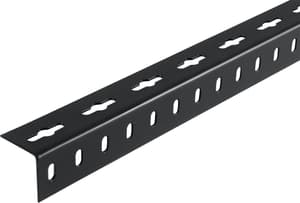 Winkel-Profil gleichschenklig 1.5 x 35.5 mm gelocht schwarz 2 m