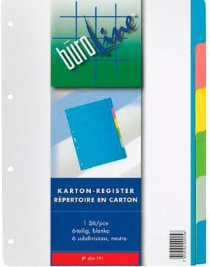 Registro cartone multicolor A4 604191 6-pezzo