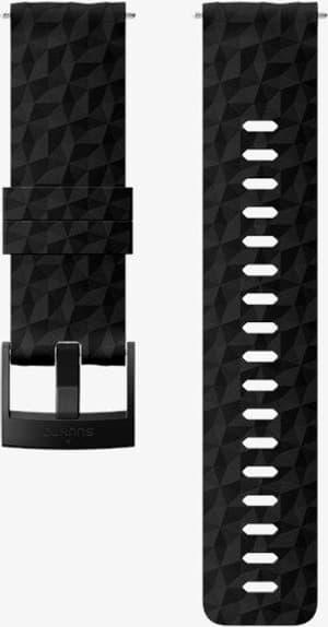 24mm Silicone Strap Black/Black M