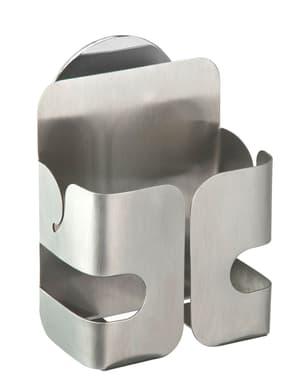 Turbo-Loc porta spugna in acciaio inox Lobo argento satinato