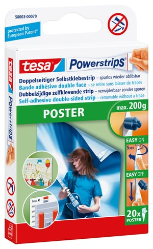 Powerstrips Poster, 20 Strips