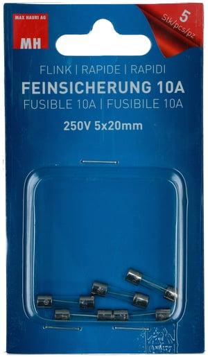 Feinsicherung Flink 10A 5 Stk.