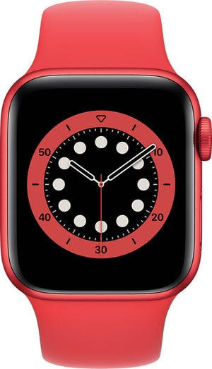 Watch Series 6 GPS 40mm Red Aluminium Red Sport Band