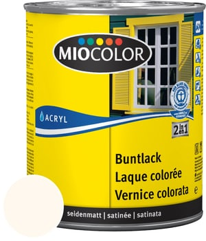 Acryl Buntlack seidenmatt Cremeweiss 750 ml