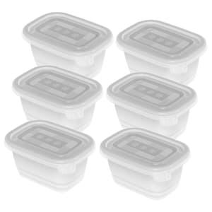 FREEZE 6er-Set Gefrierdosen 0.25l mit Deckel, Kunststoff (PP) BPA-frei, transparent, 6 x 0.25l